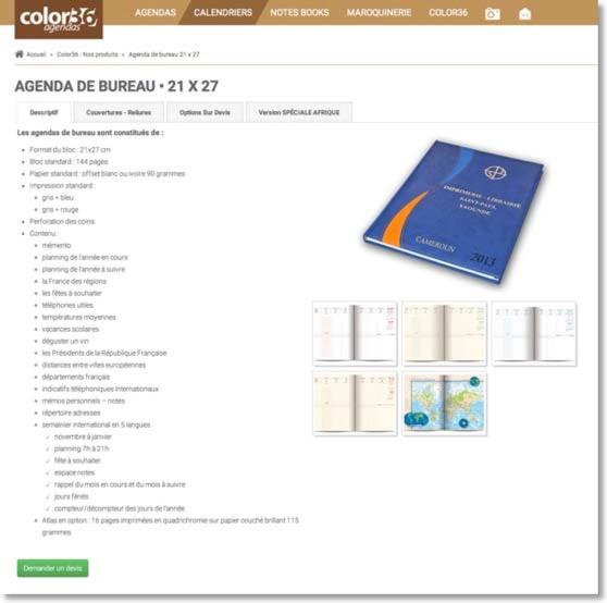 agenda de bureau 2018 agenda 21x27 agenda de poche 2018 fabricant agenda afrique 2018. Black Bedroom Furniture Sets. Home Design Ideas